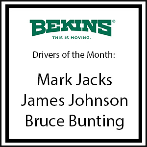 Bekins Drivers of the Month - March 2016