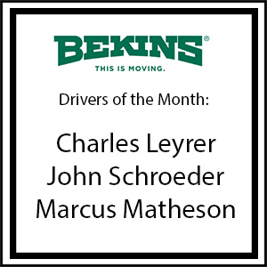 Bekins Drivers of the Month - April 2016