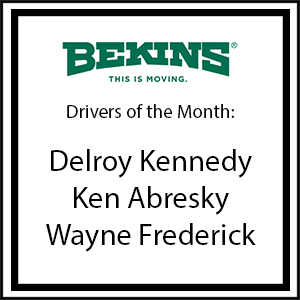 Bekins Drivers of the Month - June 2016