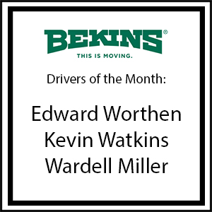 Bekins Drivers of the Month - August 2016