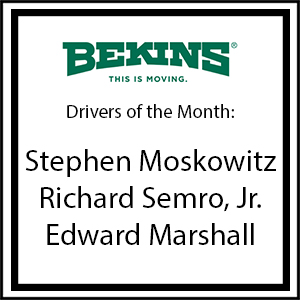 Bekins Drivers of the Month - January 2017