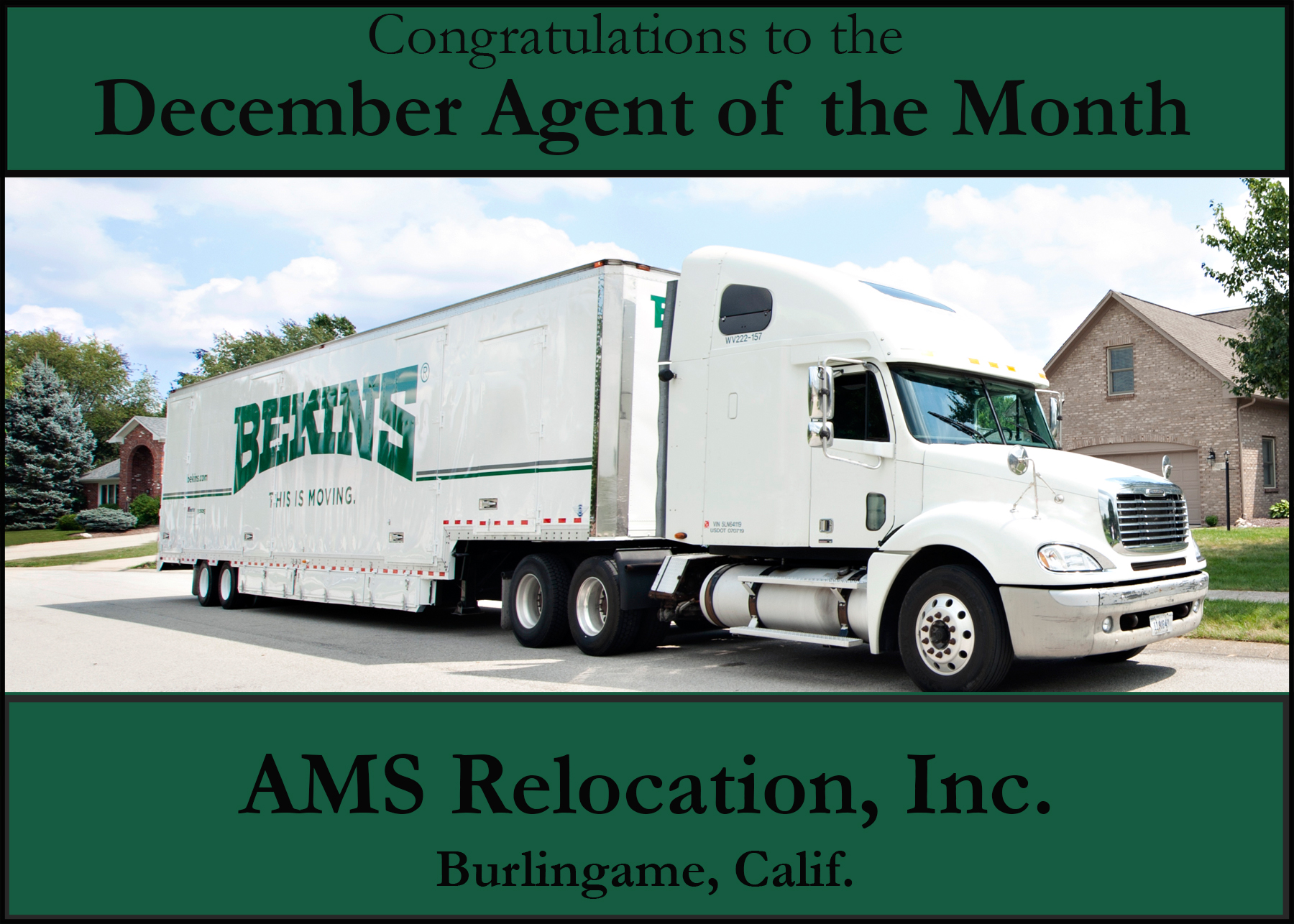 AMS Relocation, Inc. Agent of the Month