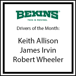 Bekins Drivers of the Month - June 2017